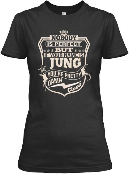 Nobody Perfect Jung Thing Shirts Black T-Shirt Front