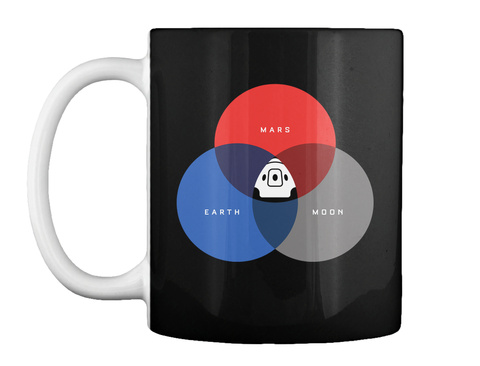 The Rgb Space Mug [Int] #Sfsf Black Taza Front