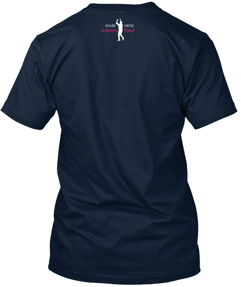 Pink Papi Love   Official David Ortiz Children's Fund Merchandise New Navy Kaos Back