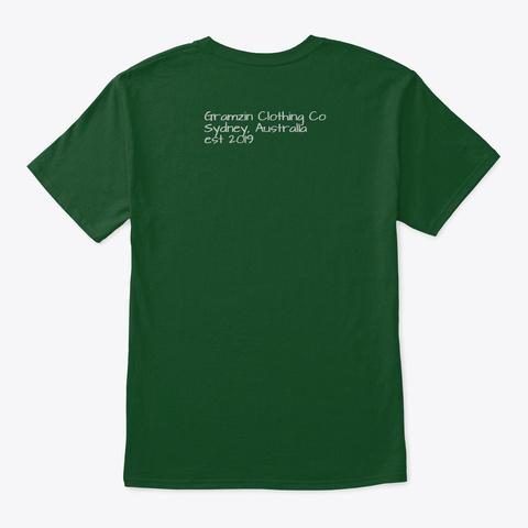 Gramzin Christmas Santa 2019 Limited Deep Forest T-Shirt Back
