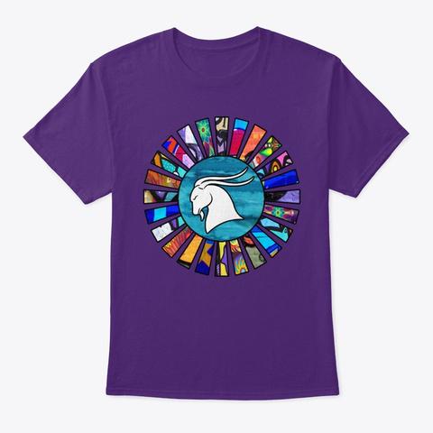 Capricorn Graffiti Sun Rays Purple T-Shirt Front