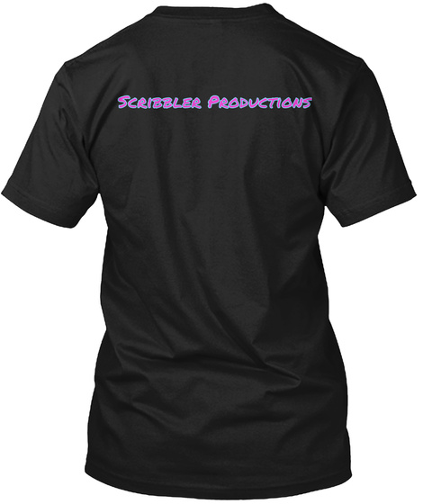 Scribbler Productions Black Camiseta Back