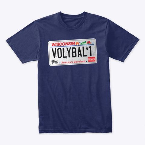 Badger Region Volleyball 1 License Plate Midnight Navy T-Shirt Front