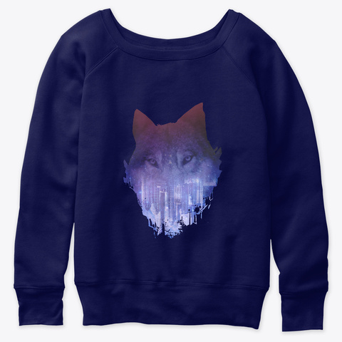 Lone Wolf  Navy  T-Shirt Front
