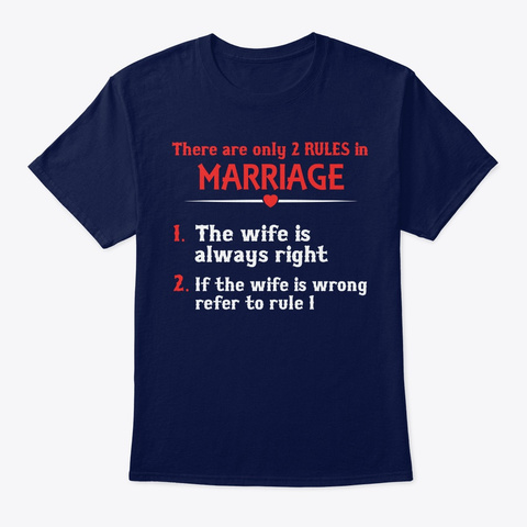Different Gift For Husband On Anniversar Navy T-Shirt Front