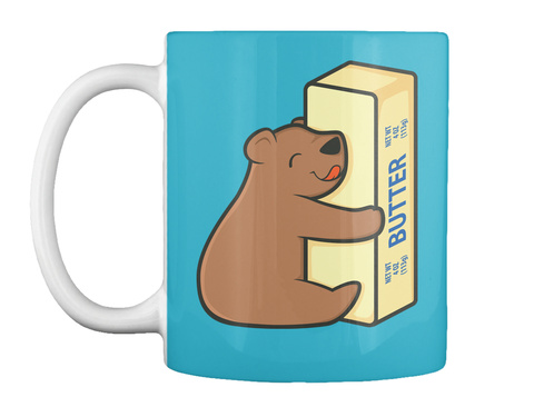Fat Is Your Friend Mug Turquoise Mug Front