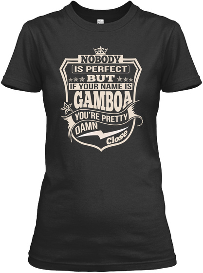 Nobody Perfect Gamboa Thing Shirts Black T-Shirt Front