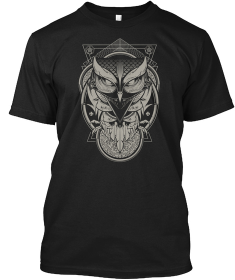 Alchemy Owl Black T-Shirt Front