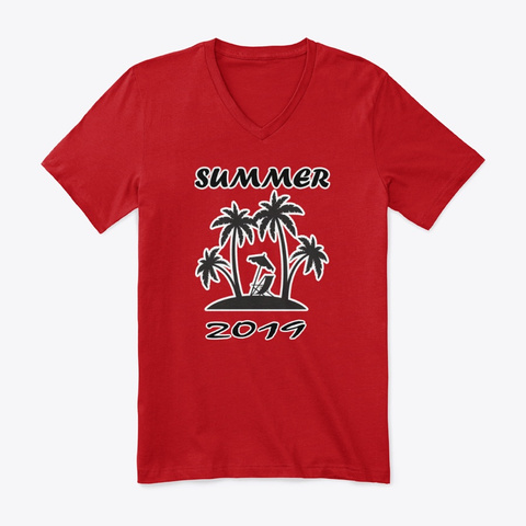 New Summer Cloth Items Red T-Shirt Front