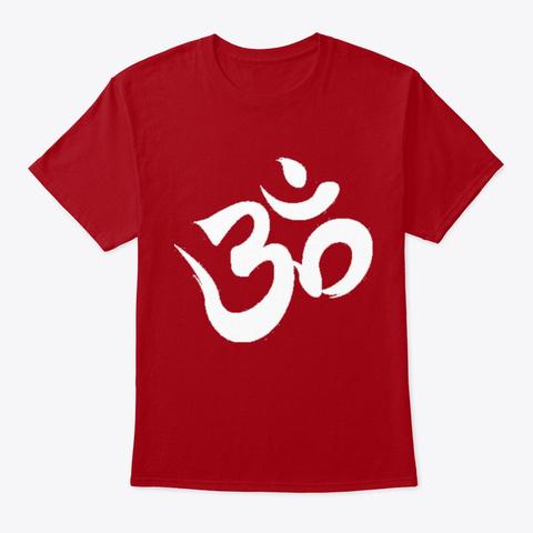 Aum Deep Red T-Shirt Front