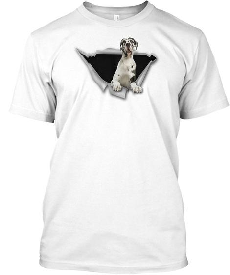 Great Dane   Cs White T-Shirt Front