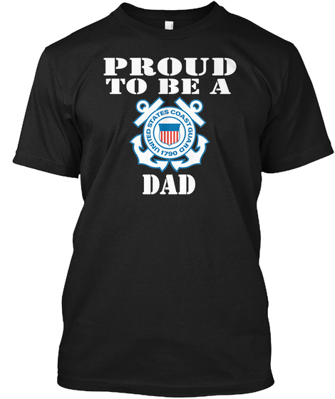 Proud To Be A Cg Dad Black T-Shirt Front