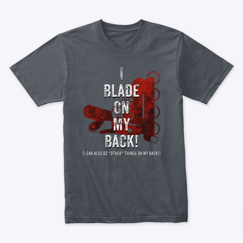 Blader On Back! Heavy Metal T-Shirt Front