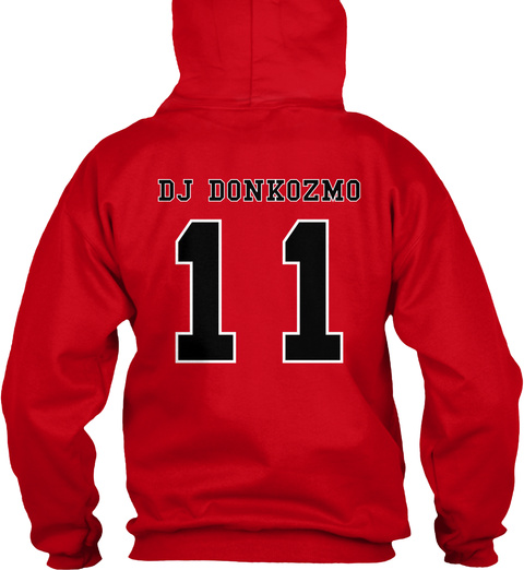 Dj Donkozmo 11 Red T-Shirt Back