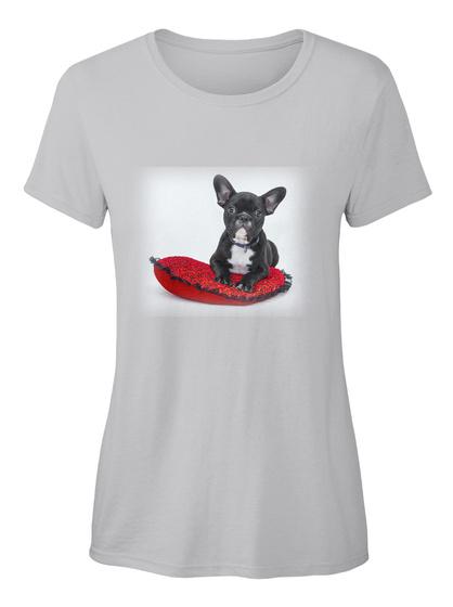 Französische Bulldogge Ellesson Sport Grey Damen T-Shirt Front