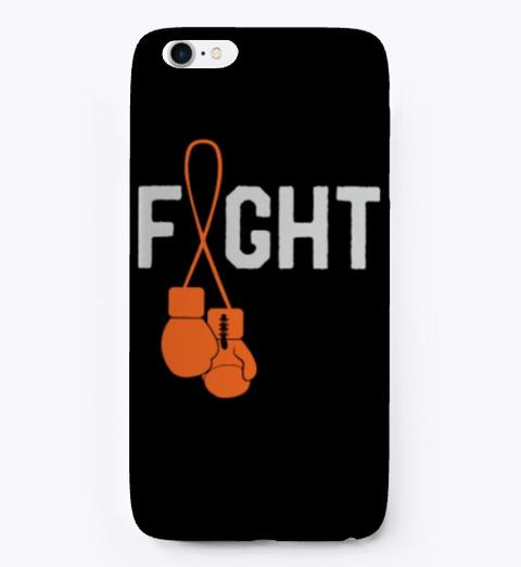 Leukemia Cancer Awareness Month Fighter Black T-Shirt Front