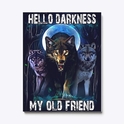 Wolf Canvas | Wolf My Old Friend Standard T-Shirt Front