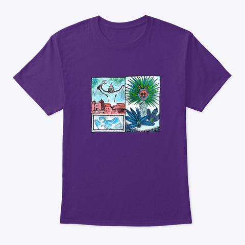 Touvlo & Palm Tree Purple T-Shirt Front