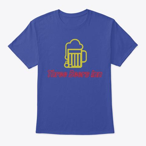 Three Beers Inn Deep Royal T-Shirt Front