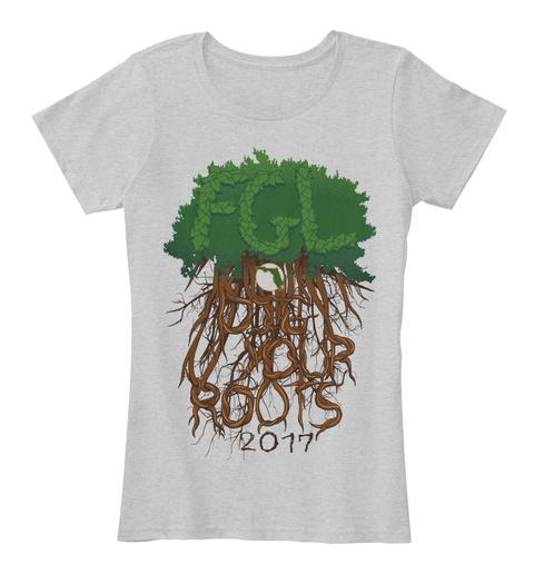 Florida Georgia Line Official Tour Apparel   Pembroke Pines, Fl Light Heather Grey T-Shirt Front