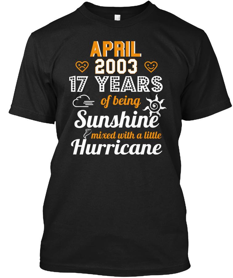 17th Wedding Anniversary April 2003 Unisex Tshirt