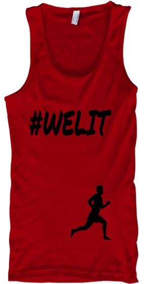 #Welit Red Tank Top Front