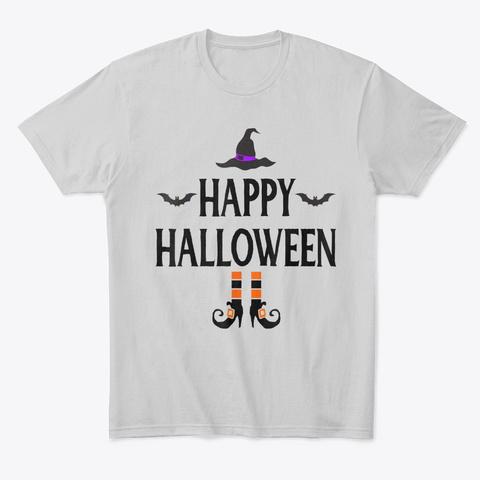 Happy Halloween Tshirt Light Heather Grey  T-Shirt Front