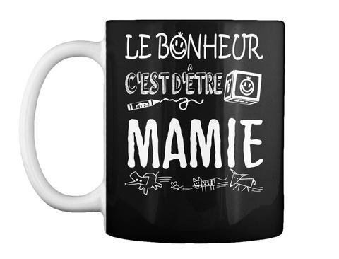 Tasse Cadeau Pour Grand Mère  Black Mug Front