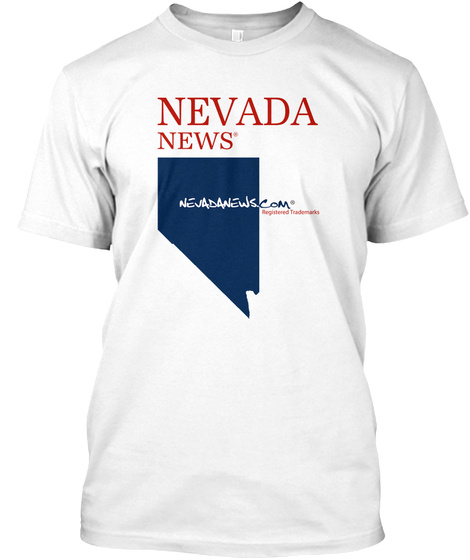 Nevada News® State And Com T Shirt White T-Shirt Front