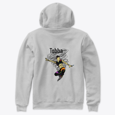 Gallery Tobba Print Athletic Heather T-Shirt Back