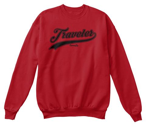 Traveler Expensive Deep Red  T-Shirt Front