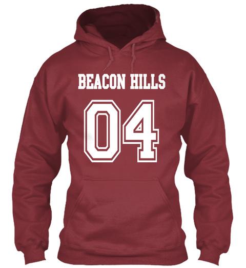 Beacon Hills Hale 04 Hoodie  Maroon T-Shirt Front