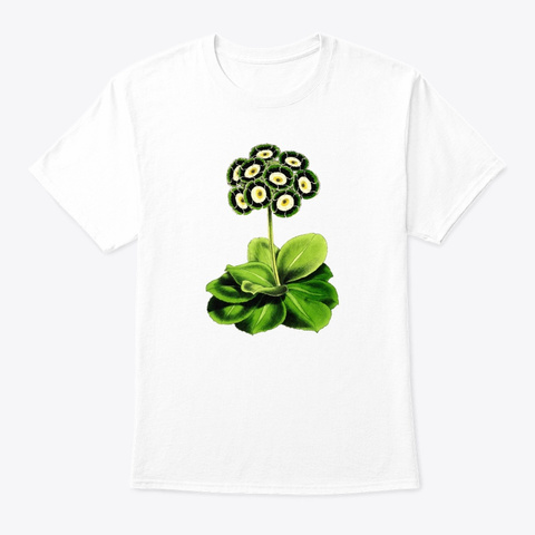 Botanical Beautiful Vintage White T-Shirt Front