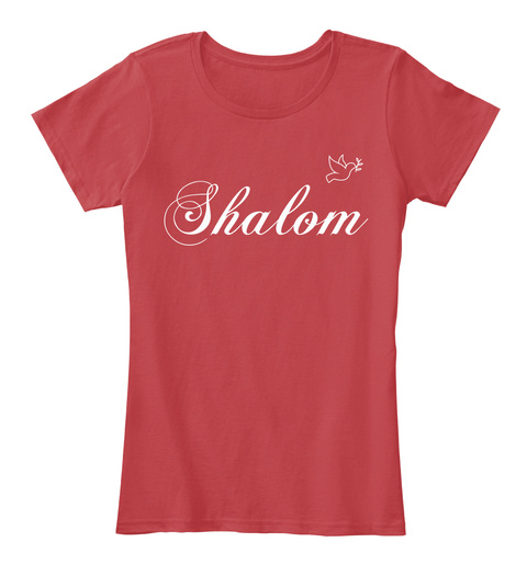Shalom Classic Red Women's T-Shirt Front