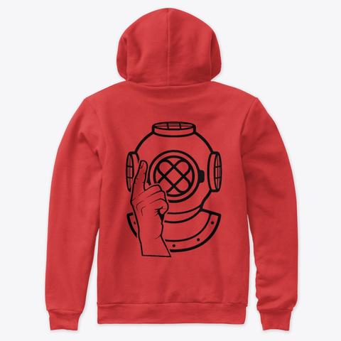 The Fire Line   Bold Custom Art Red T-Shirt Back