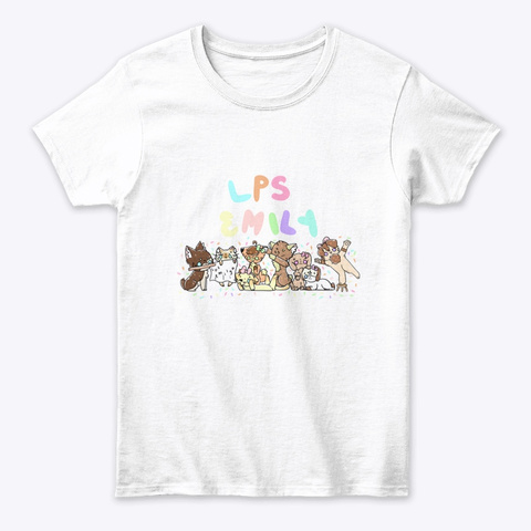 Lps Emily Crew T Shirt White T-Shirt Front