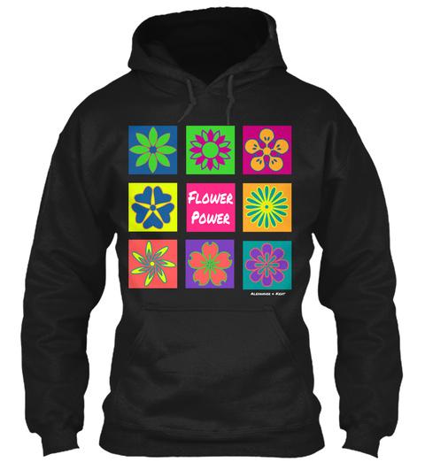 Flower Power Alexander & Kent  Black T-Shirt Front