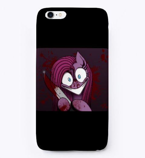 Psycho Pinky Pie Phone Case  Black T-Shirt Front