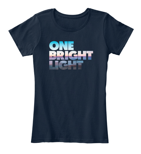 One Bright Light New Navy T-Shirt Front