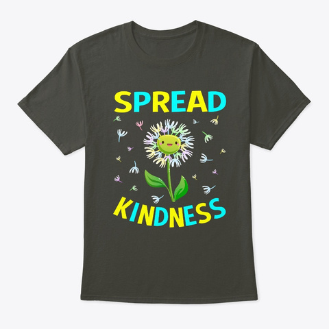 Spread Kindness Dandelion Smoke Gray T-Shirt Front