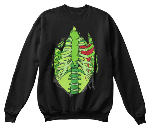 Halloween Bleeding Heart Sweat Black Sweatshirt Front