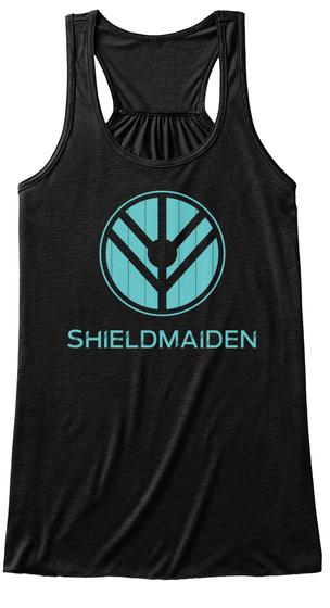 Shieldmaiden  Black T-Shirt Front