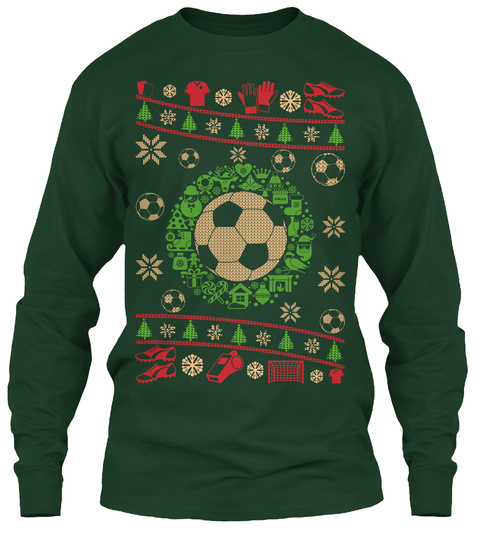 Soccer Ugly Sweater 2016 Forest Green T-Shirt Front