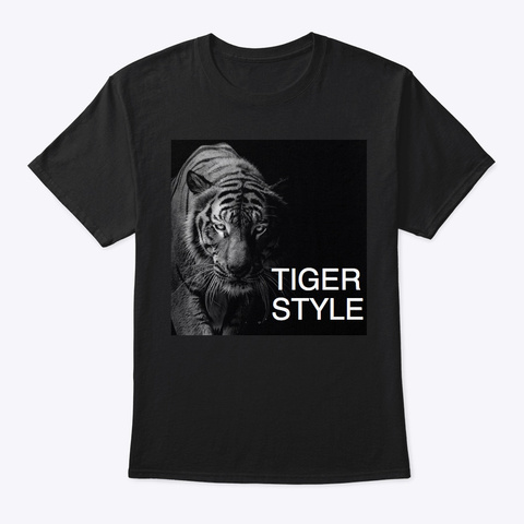 Tiger Style Black T-Shirt Front