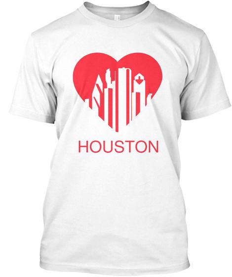 Houston White T-Shirt Front