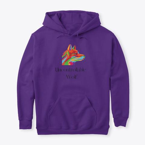 Uncontrollable Wolf 7 Purple T-Shirt Front