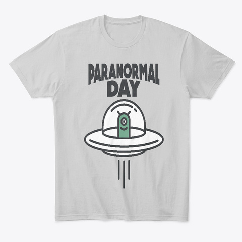 3rd May   Paranormal Day Light Heather Grey  T-Shirt Front