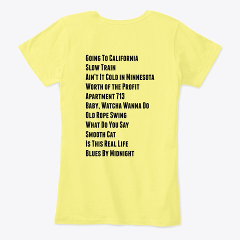 An Error Occurred. Lemon Yellow T-Shirt Back