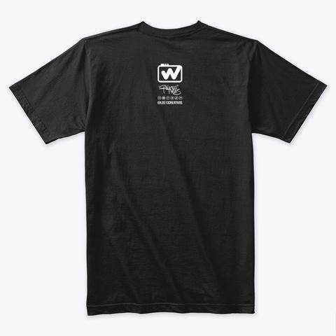 El Walkman   Retro Music Black T-Shirt Back