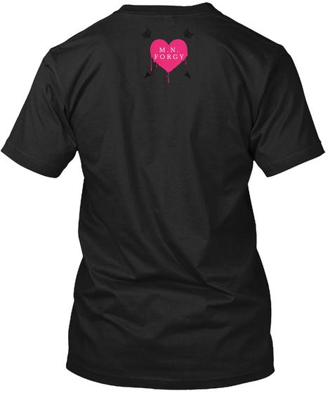 M N Forgy Black T-Shirt Back